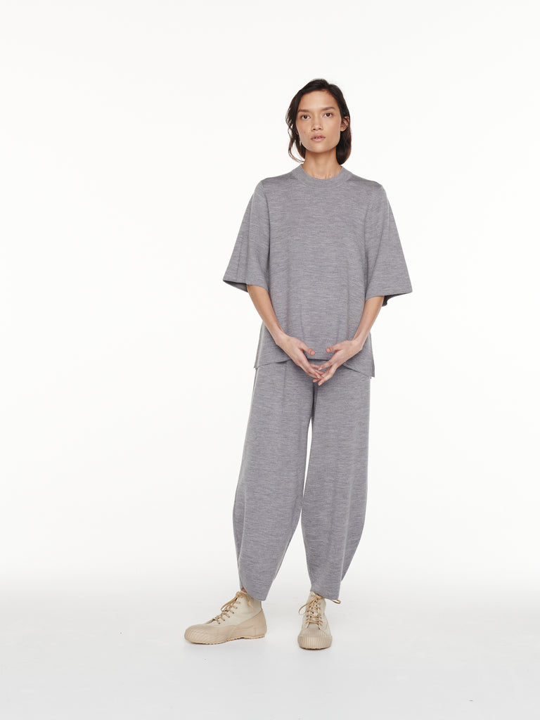 Moura Pant in Grey Marl