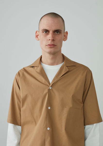 Cockle Shirt In Tan - Studio Nicholson