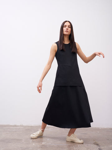 Mannes Sleeveless Dress In Black