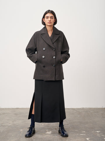 Marker Dogtooth Wool Peacoat