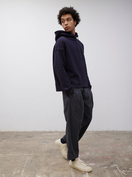 SNJP MATSUMOTO Hooded Sweatshirt in Loopback Dark Navy - Studio Nicholson