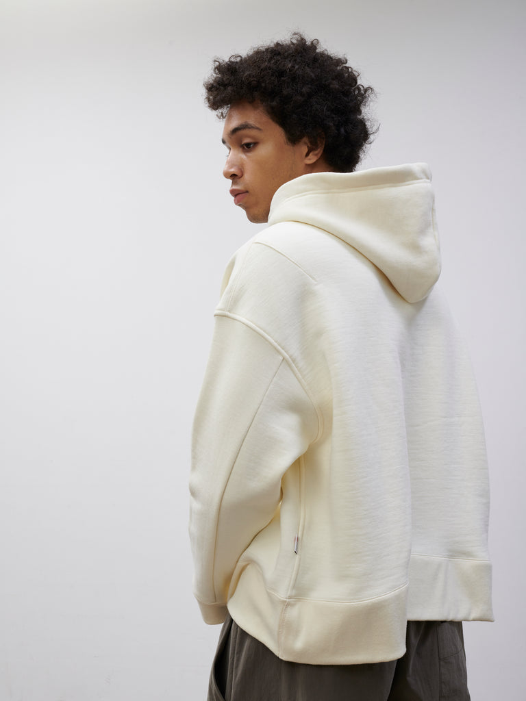 SNJP MATSUMOTO Hooded Sweatshirt in Loopback Off White - Studio Nicholson