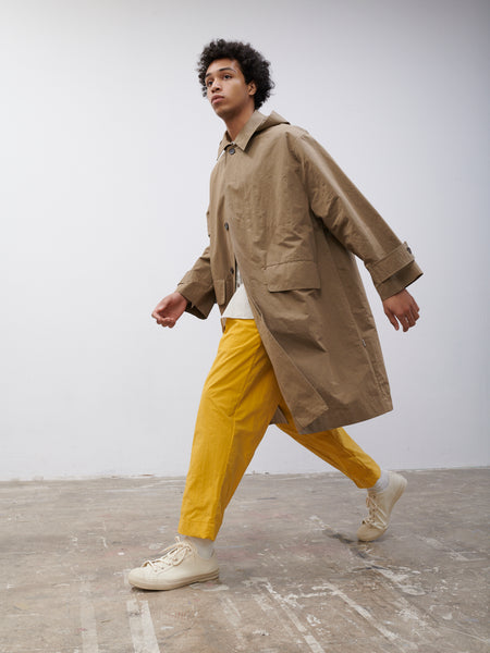 SNJP MEGURO Car Coat In Light Brown - Studio Nicholson