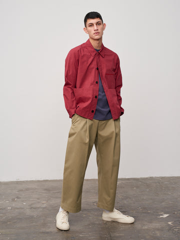 Morales Overshirt In Ruby