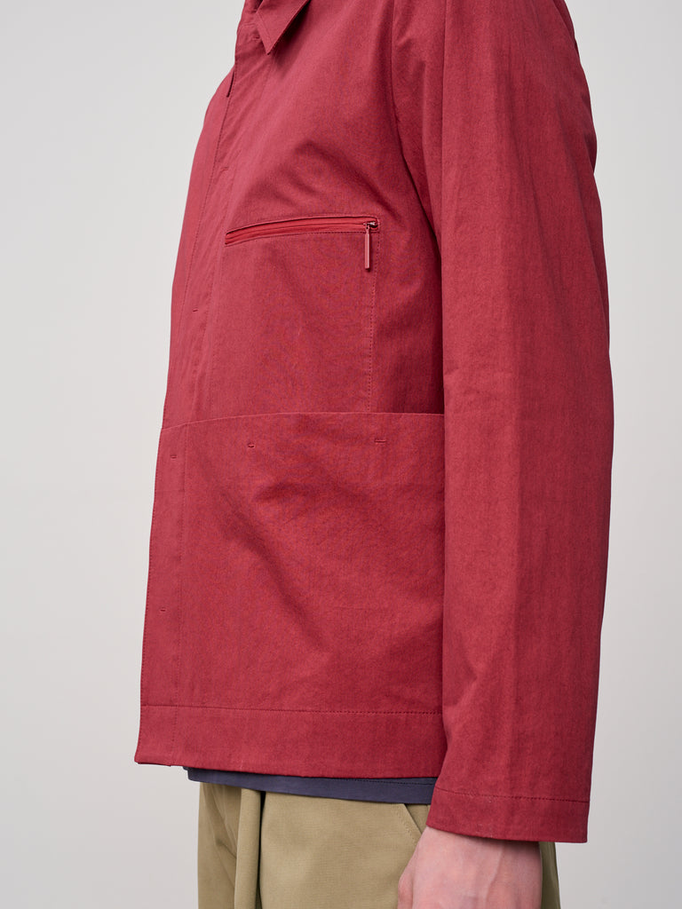 Morales Overshirt In Ruby - Studio Nicholson
