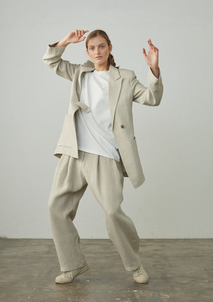 More Tailored Jacket In Natural - Studio Nicholson