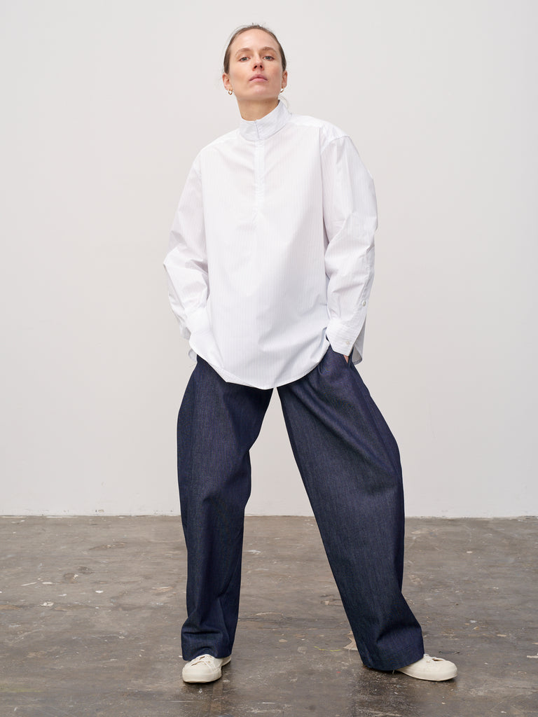 Morrow Pant In Denim Indigo - Studio Nicholson