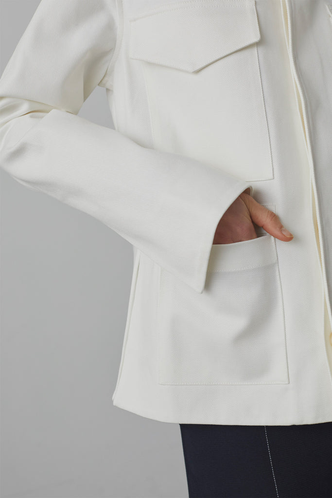 Nero Cotton Twill Jacket In Ivory - Studio Nicholson