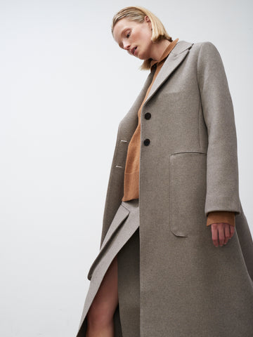Ounce Coat In Light Brown