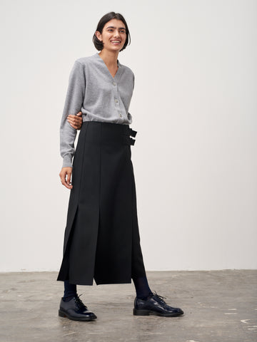 Overlap Skirt In Black