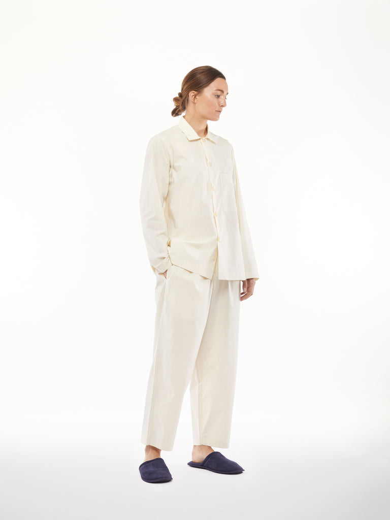 PJ Pant Set in Milk