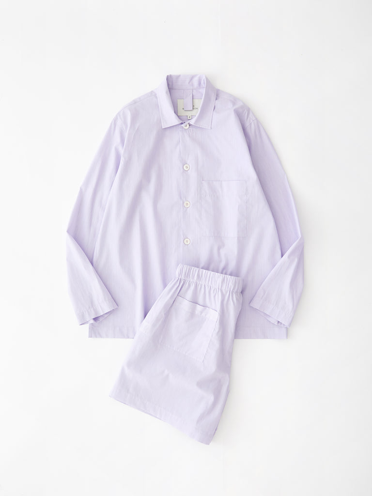 PJ Short Pack in Lilac and White Stripe