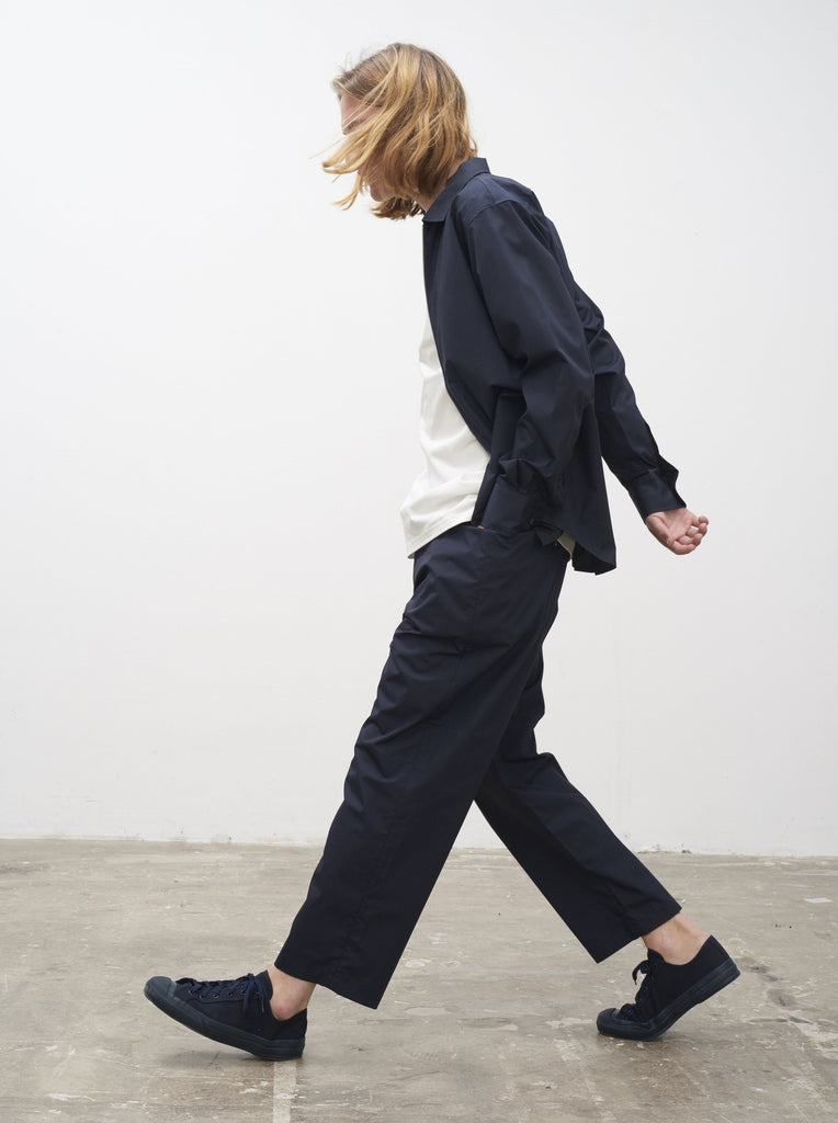 Percent Overshirt In Dark Navy - Studio Nicholson