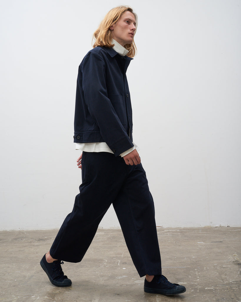 Pyad Pant In Heavy Raised Twill In Dark Navy - Studio Nicholson