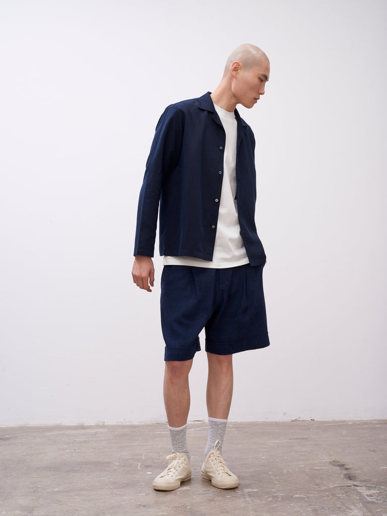 Quarrie Shorts Dark Navy - Studio Nicholson