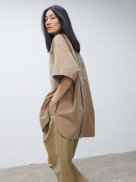Rocha Shirt In Tan - Studio Nicholson
