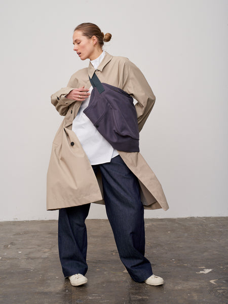 Rowley Raincoat In Bone - Studio Nicholson