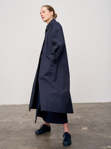Rowley Raincoat In Dark Navy