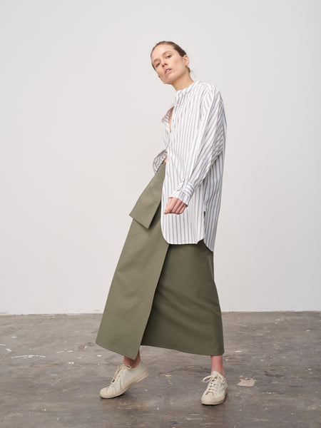 Rudd Skirt In Olive - Studio Nicholson