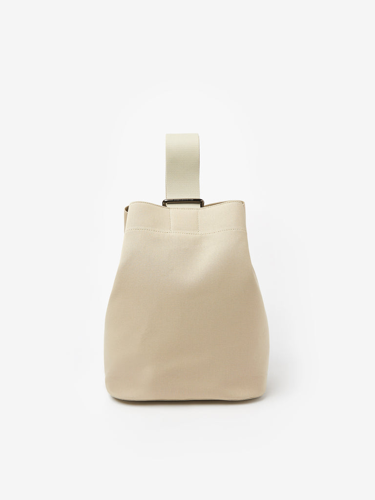 Slide Canvas Cross Body Bag in Dove