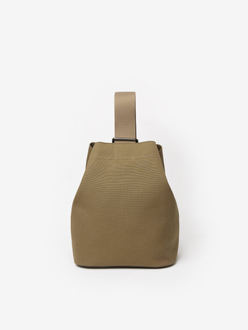 Slide Canvas Cross Body Bag in Khaki