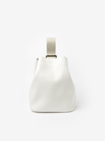 Slide Leather Cross Body Bag in Milk