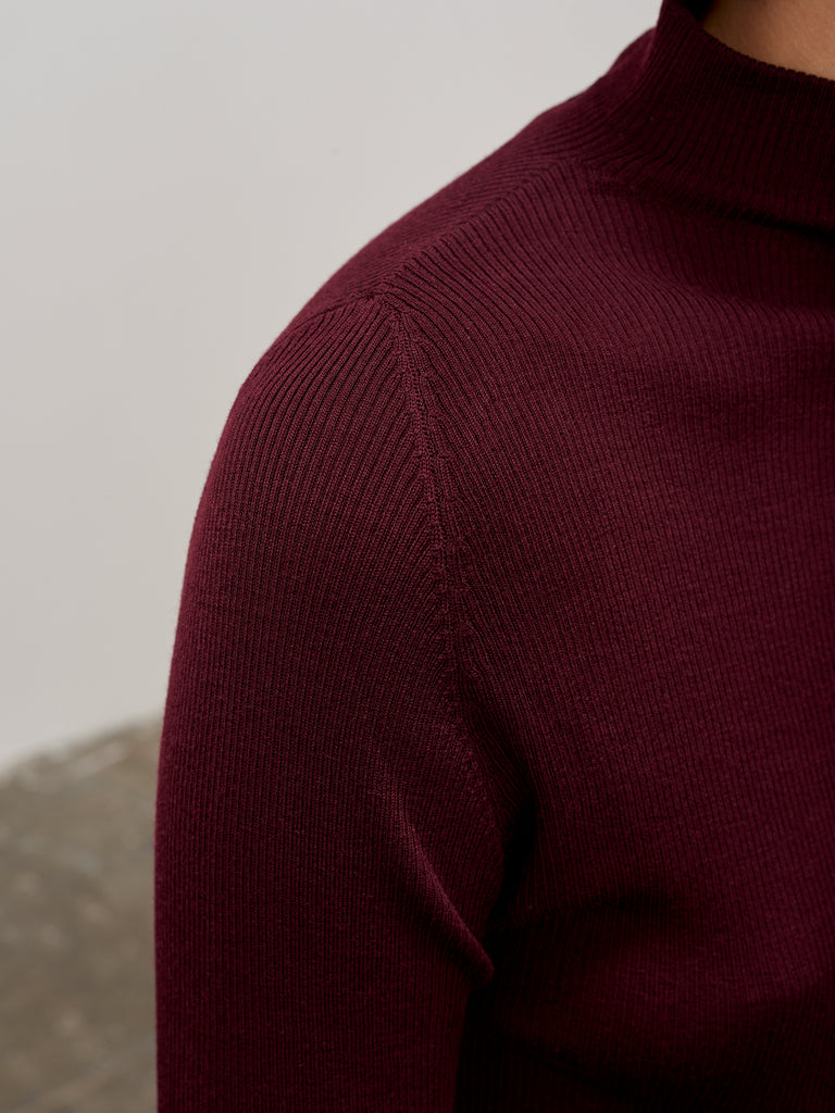 Sanctuary Mock Neck Knit In Conker - Studio Nicholson