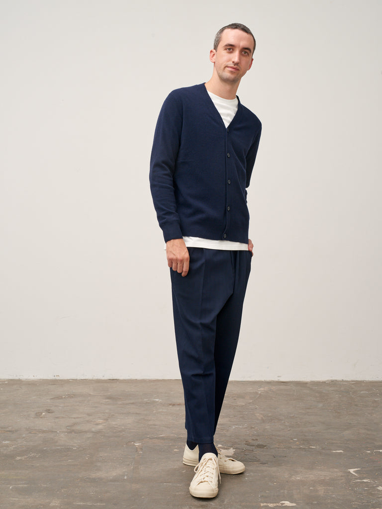 Santo Cardigan In Dark Navy - Studio Nicholson