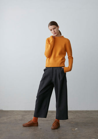 Seam Cashmere Knit In Yolk