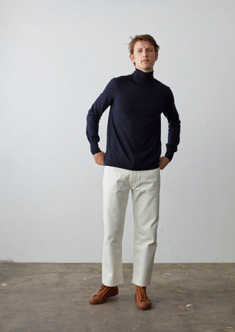 Sense Turtleneck Knit In Dark Navy