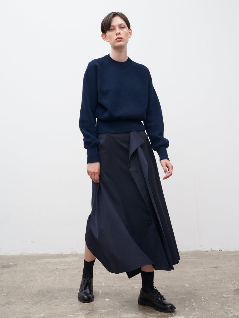 Shaku Skirt In Dark Navy - Studio Nicholson