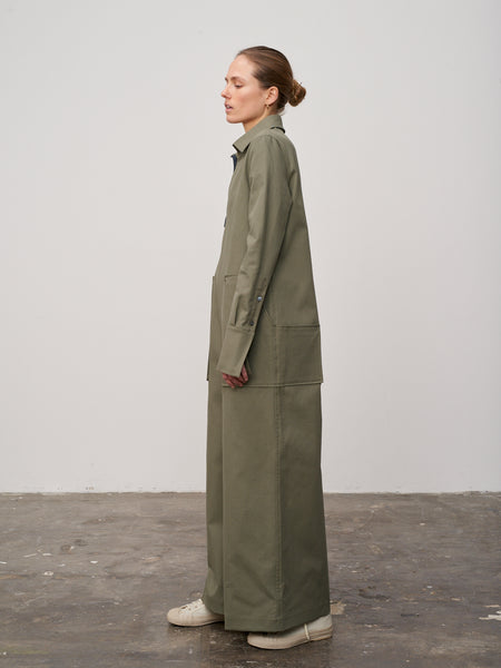 Sime Utility One-Piece In Olive - Studio Nicholson