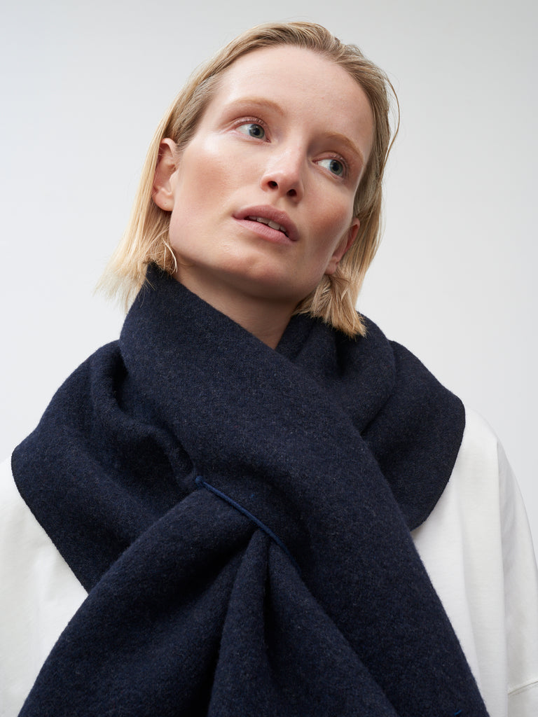 Sofia Scarf In Dark Navy