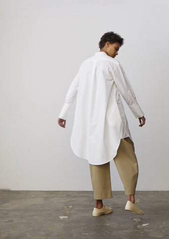 Vico Shirt Dress In Optic White