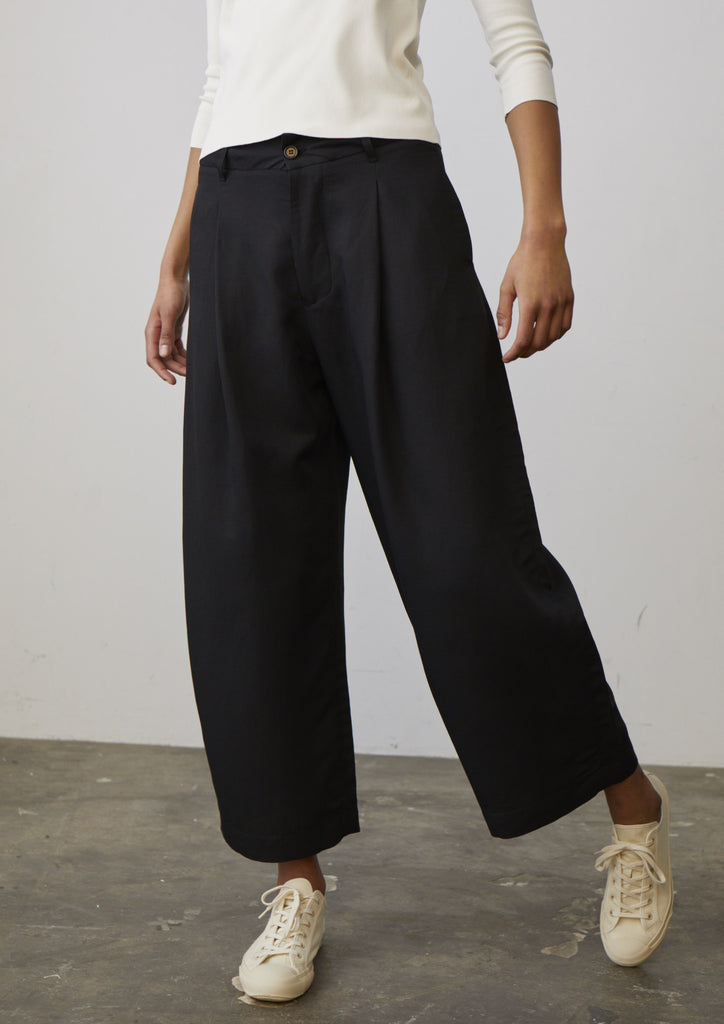 Marcello Pant In Black - Studio Nicholson