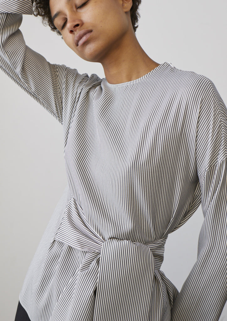 Tulio Top In Grey Stripe - Studio Nicholson