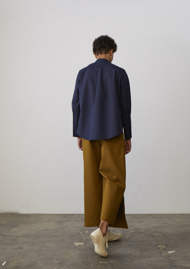 Alonso Shirt In Navy - Studio Nicholson