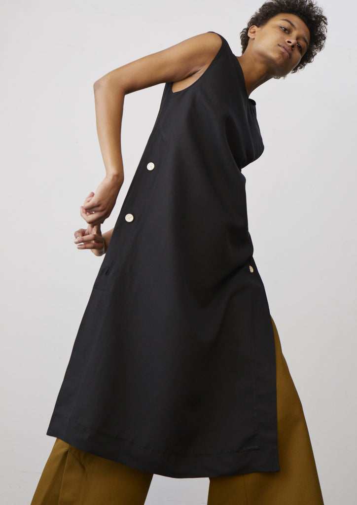 Rico Dress In Black - Studio Nicholson
