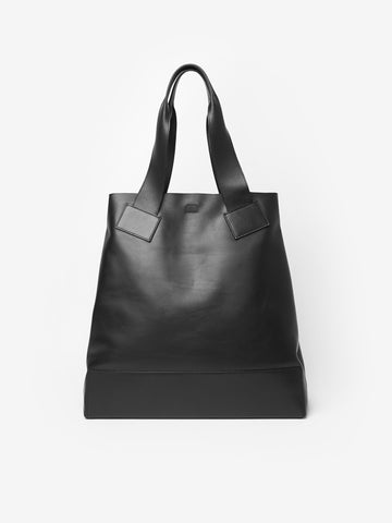 Tomorrow Leather Tote Bag in Black