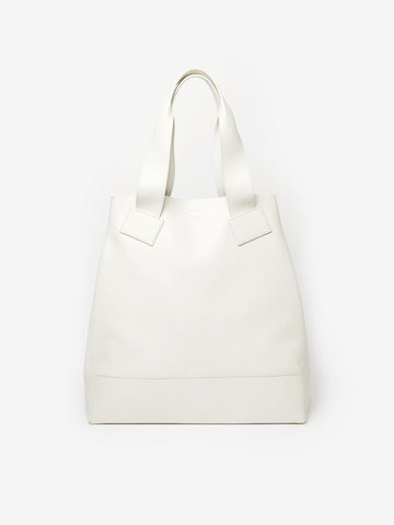 Tomorrow Leather Tote Bag in Milk