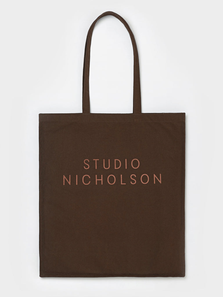 Studio Nicholson Standard Tote Bag in Chocolate Truffle