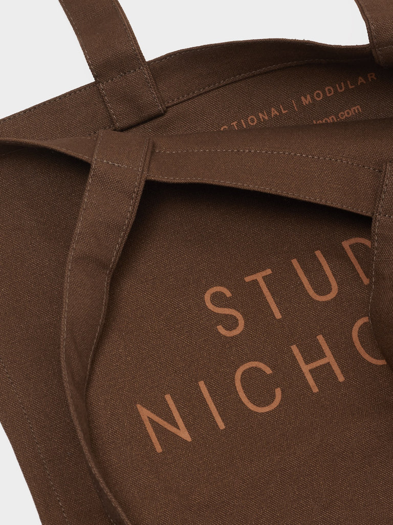 Studio Nicholson Small Tote Bag in Chocolate Truffle - Studio Nicholson