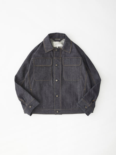 SNJP TOTTORI Jacket In Selvedge Denim Indigo