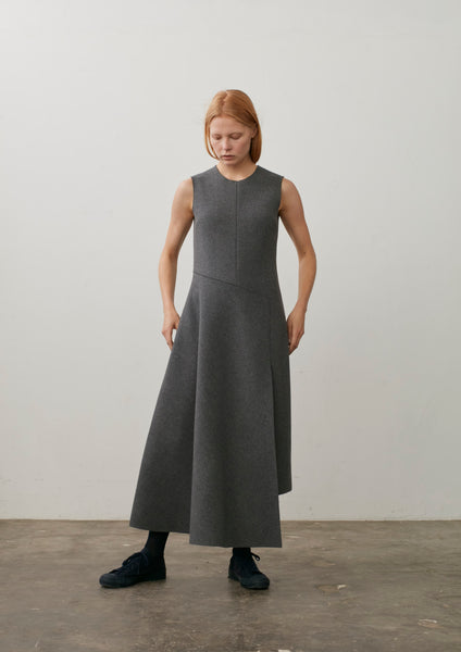 That Dress In Grey Wool Cashmere