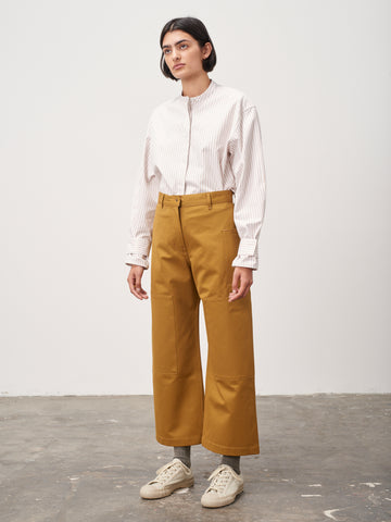 Ticking Pant In Mustard