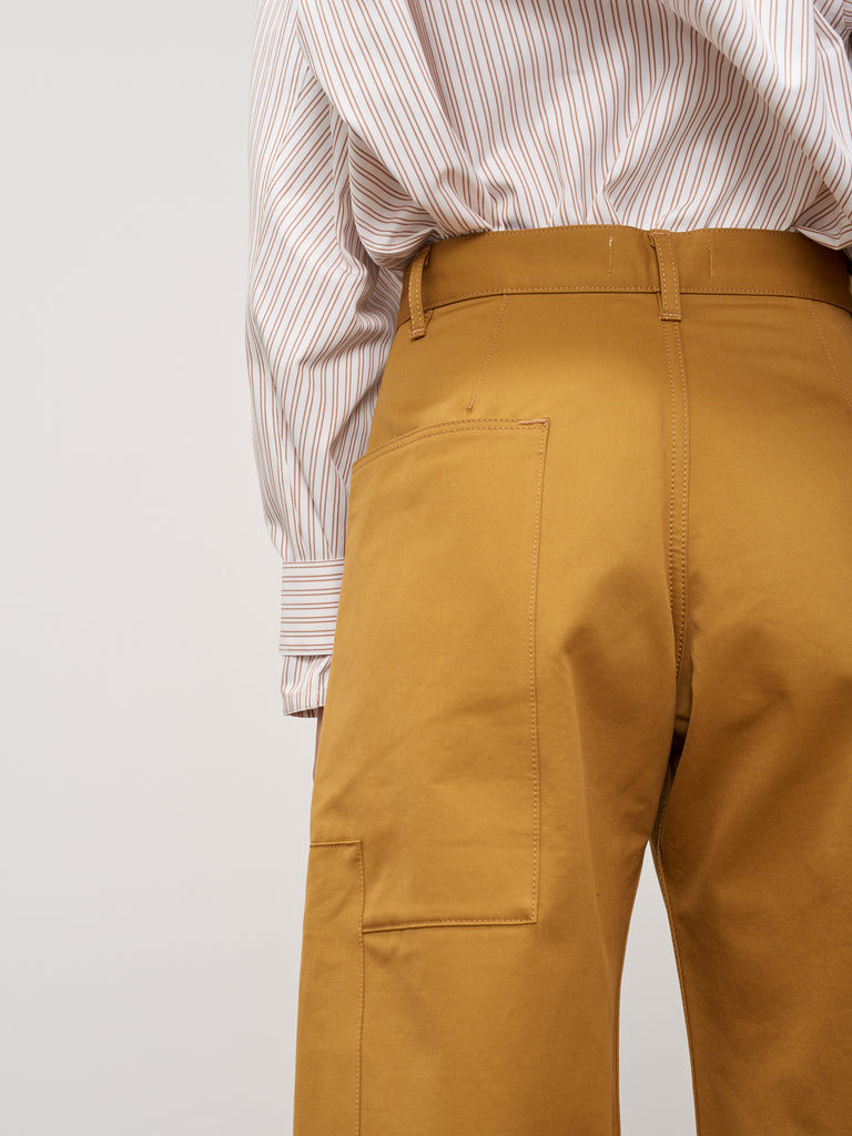 Ticking Pant In Mustard - Studio Nicholson