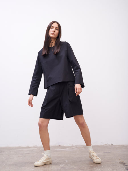 Tolan Top In Black - Studio Nicholson