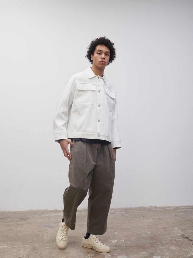 SNJP TOTTORI Jacket In Selvedge Denim Optic White - Studio Nicholson