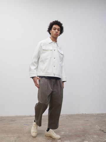 SNJP TOTTORI Jacket In Selvedge Denim Optic White