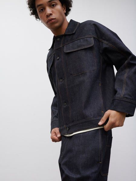 SNJP TOTTORI Jacket In Selvedge Denim Indigo - Studio Nicholson